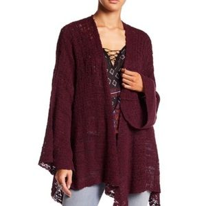 Free People In My Element Kimono Sweater Plum